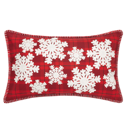 Pillows - Embroidered Snowflakes Pillow