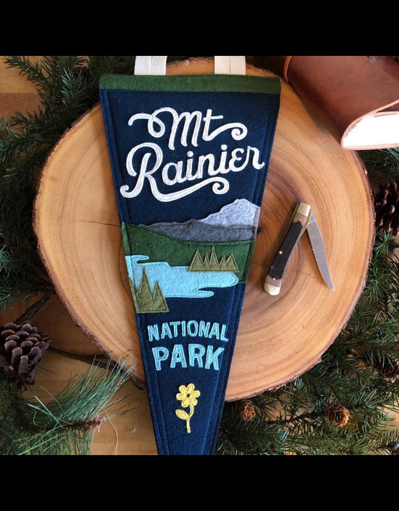 Pennants Mount Rainier Handmade Pennant