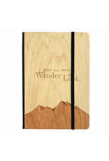 Journals Not All Who Wander Wood Notebook