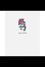 Greeting Cards - Birthday Kitty Rose Greeting Card