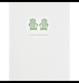 Greeting Cards - Anniversary Adirondack Chairs Anniversary Greeting Card