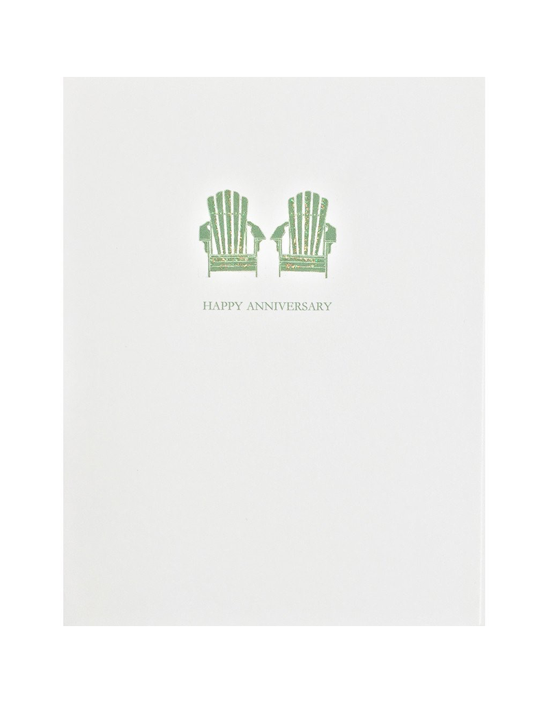 Greeting Cards - Anniversary Adirondack Chairs Anniversary Greeting Card