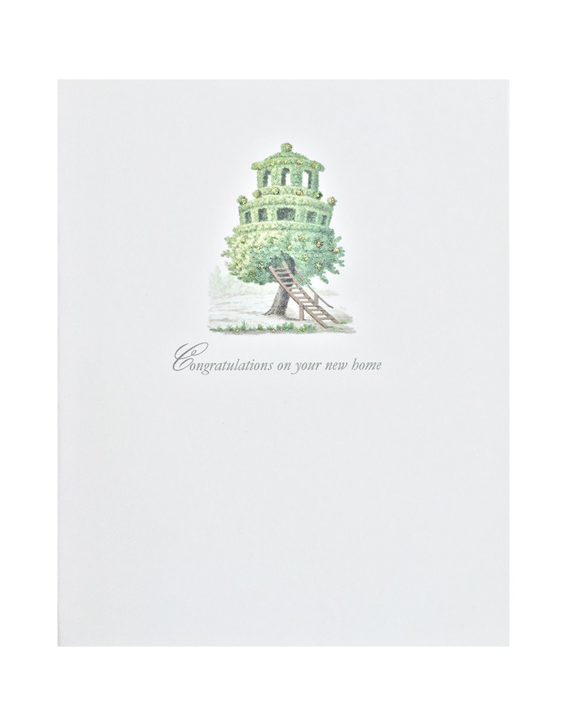 Greeting Cards - New Home New Home Treehouse Greeting Card