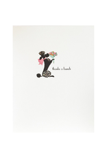 Greeting Cards - Thank You Poodle Thank You Greeting Card
