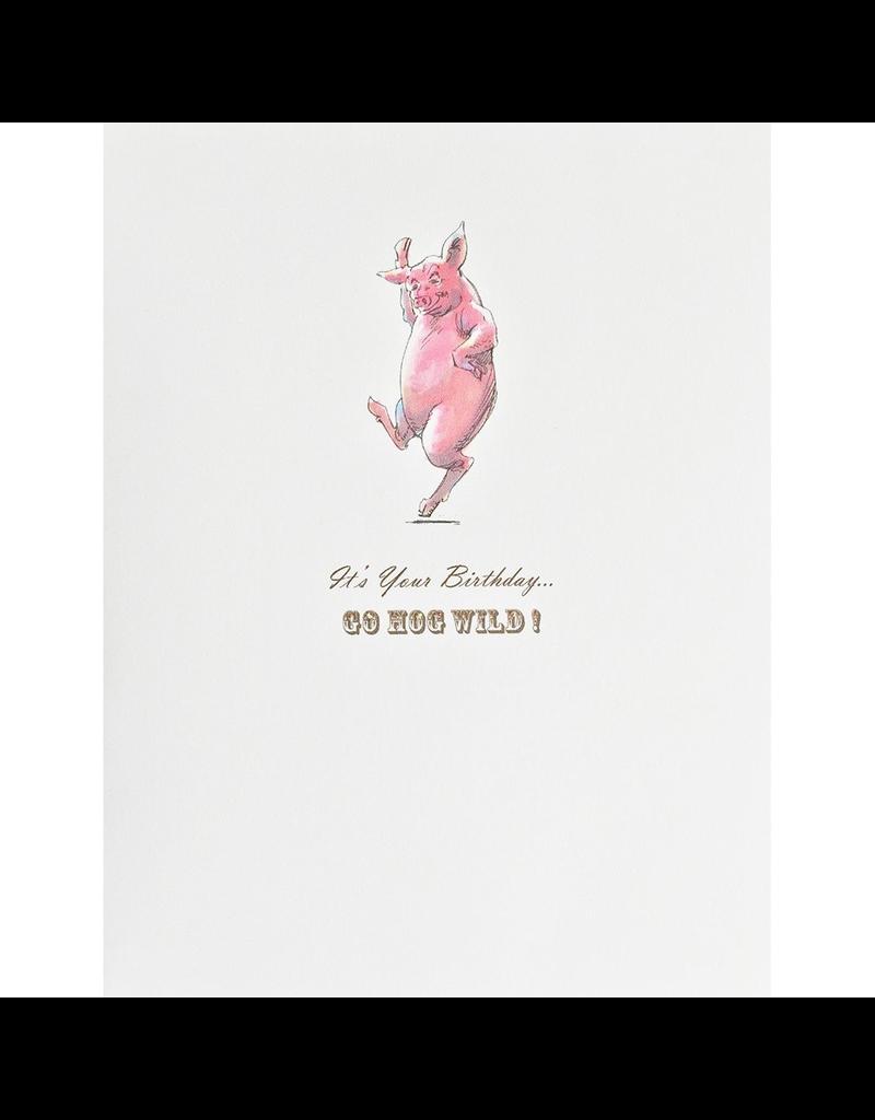 Greeting Cards - Birthday Hog Wild Birthday Greeting Card