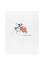Greeting Cards - Birthday Doggie Roses Birthday Greeting Card