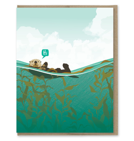 Greeting Cards - Friendship Hi Otter Greeting Card