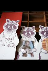 Greeting Cards - General Oops Raccoon Card