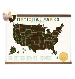 Prints National Parks Map