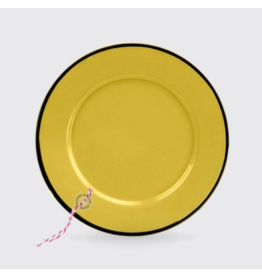 Enamelware Mustard Enamel Plate