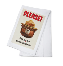 Tea Towels Smokey Bear Tea Towel