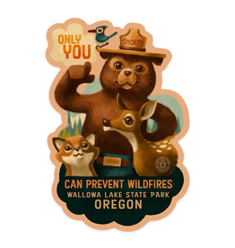 Stickers Smokey Bear Wallowa Lake OR Sticker