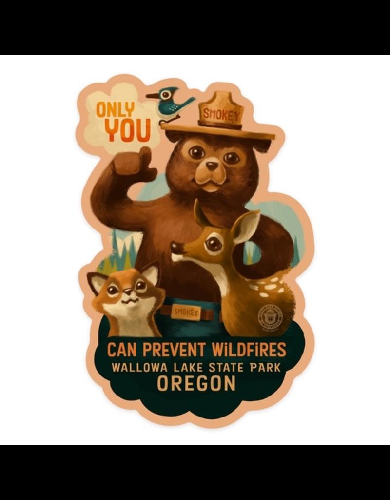 Stickers Smokey Bear Wallowa Lake OR Sticker