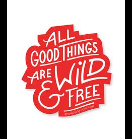 Stickers Wild & Free Sticker