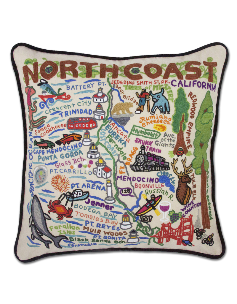 Pillows - Embroidered North Coast California Pillow