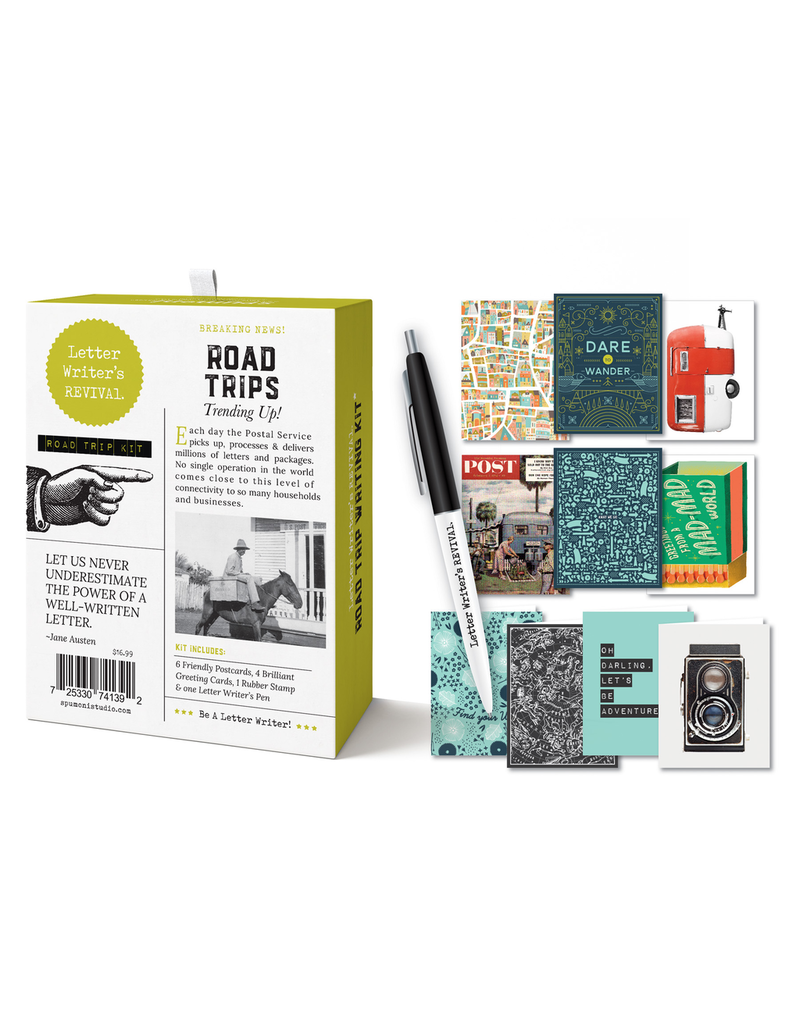 Notecards Boxed Road Trip Writing Kit
