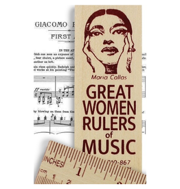 Desk Supplies Great Women of Music Ruler
