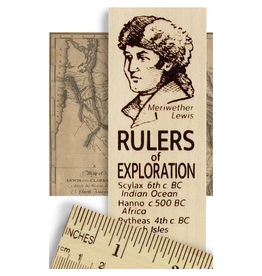 Desk Supplies Rulers of Exploration Ruler