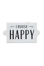 Plaques Chooose Happy Enamel Sign