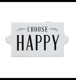 Plaques Chooose Happy Enamel Sign