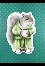 Stickers Coffee Squirrel Sticker