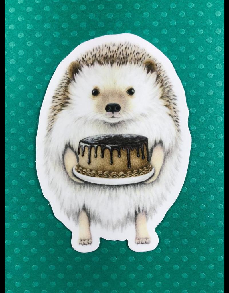 Stickers Hedgehog With Cake Sticker