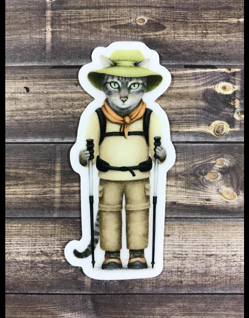 Stickers Hiker Cat Sticker