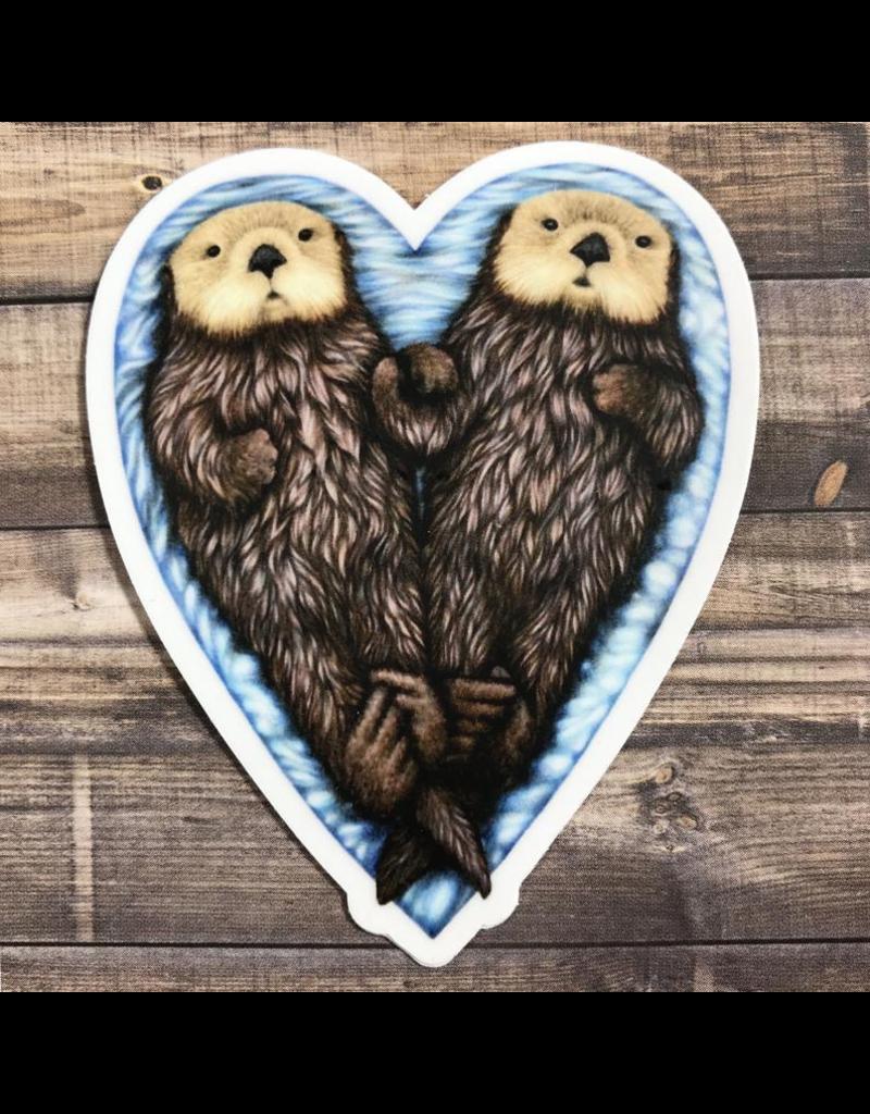 Stickers Otter Heart Sticker