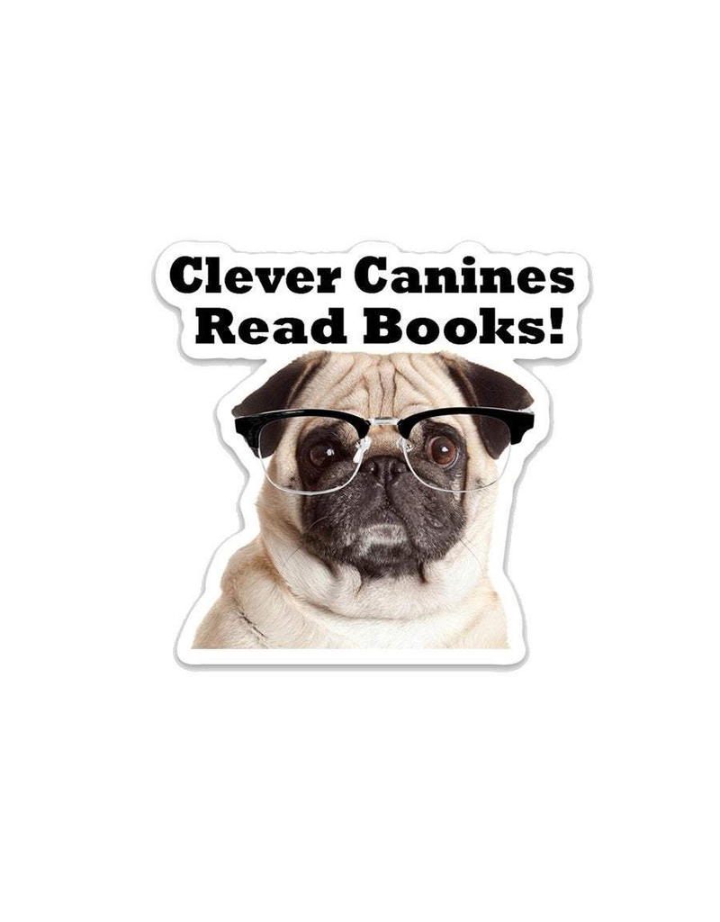 Stickers Clever Canines Read Books Sticker