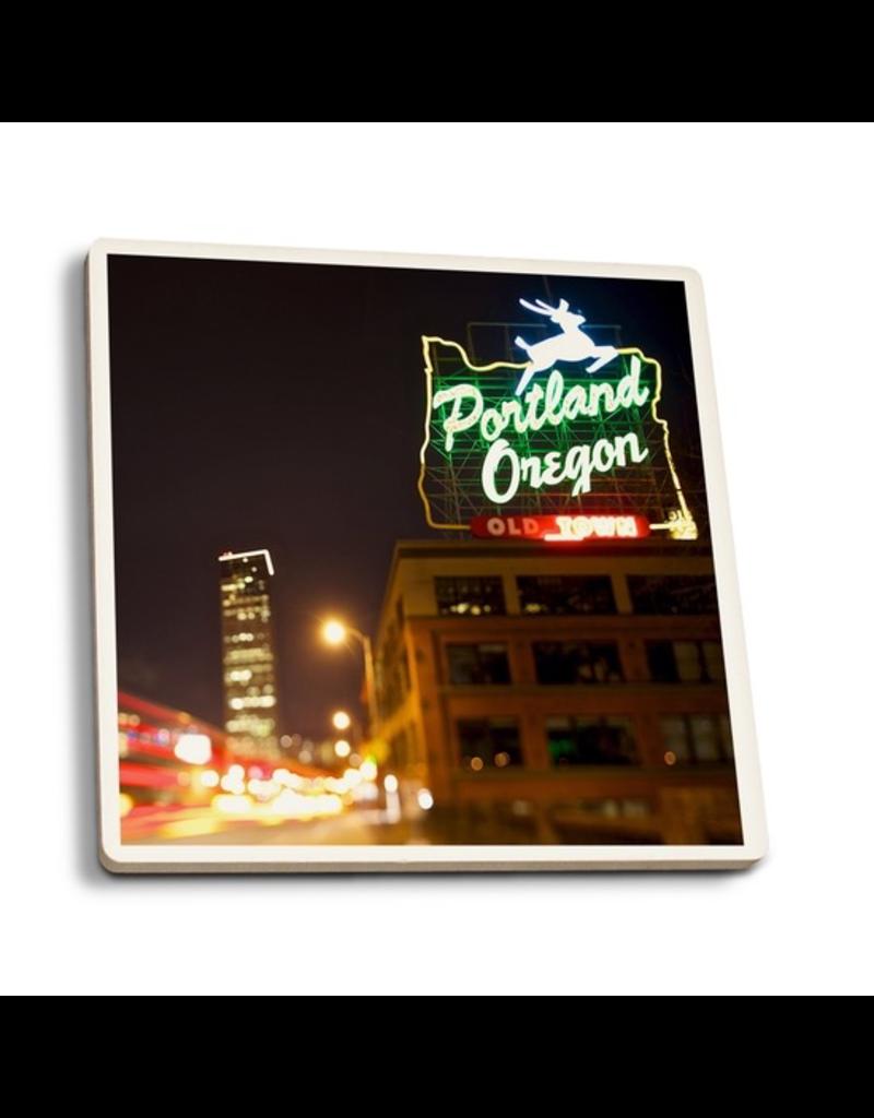 Coasters Portland Neon Sign Coaster