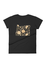 T-Shirts Women Etta Floral Fitted Woman's Tee