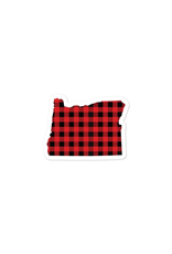 Stickers OR Buffalo Plaid Sticker