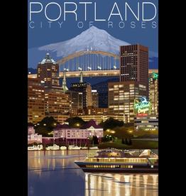 Puzzles Portland Night Skyline Puzzle