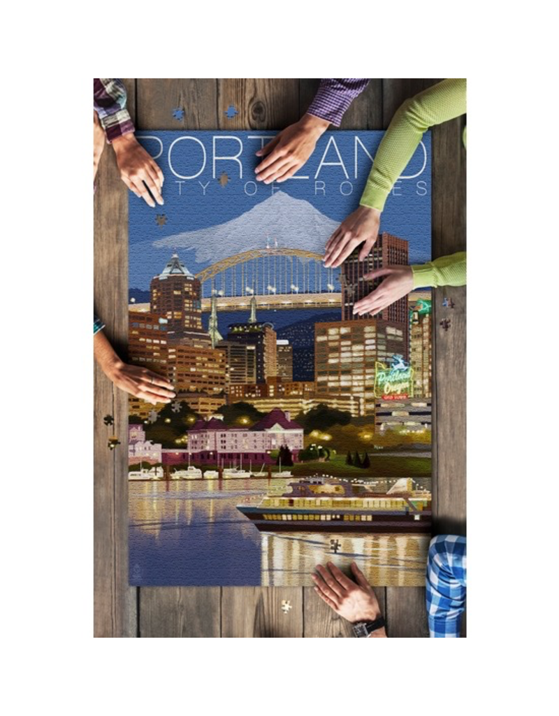 Puzzles Portland Night Skyline Puzzle