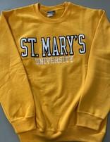 St. Mary's Comfort Fleece Crew Athletic Gold