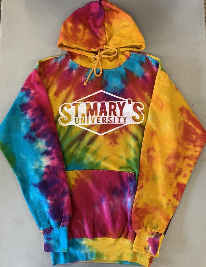 Tie Dye Hood Rainbow Swirl