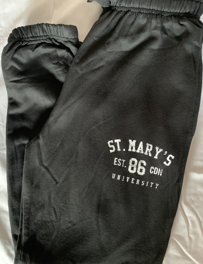 St. Mary's Closed Bottom Sweatpant Black