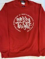 Merry & Bright Christmas Crew Neck