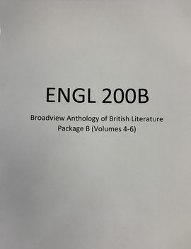 Broadview Anthology of British Literature Package B (Vol 4-6)