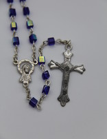 Rosary Blue Square Bead 6mm