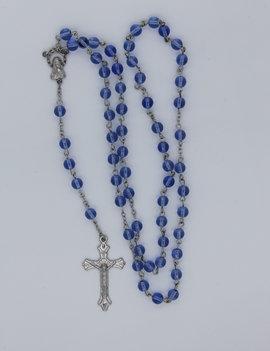 Rosary Aqua Glass Bead 6mm