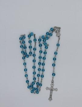 Rosary Aqua Glass Round 6mm
