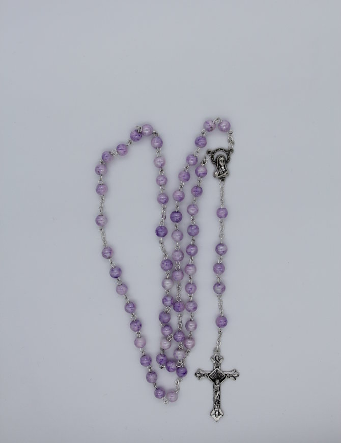 Rosary Marble Amethyst 6mm