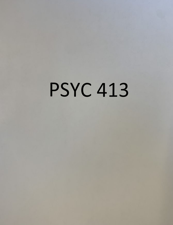 Psyc 413 Course Pack