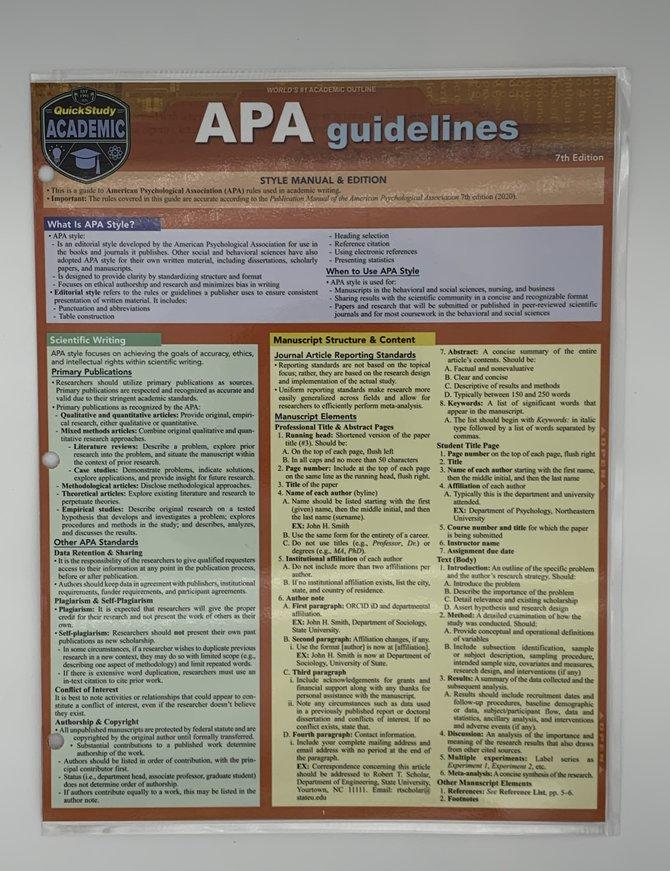 APA Guidelines 7th ed