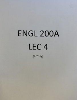 Broadview Custom Course Pack Bresky ENGL 200A Sec 4 F21