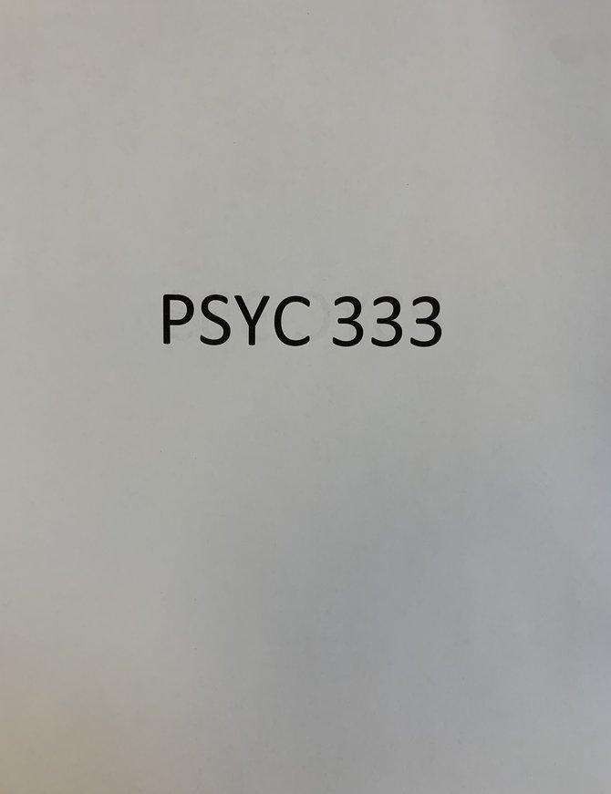 Gender:  Psychological Perspectives USED