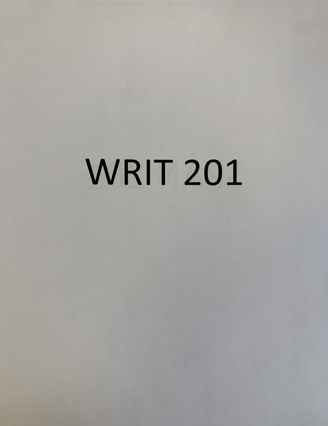 WRIT 201 21/22 course pack