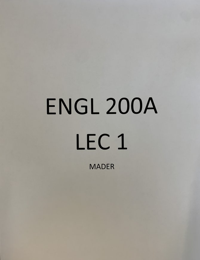 ENGL 200A Lec 1 Mader F21 Course Pack