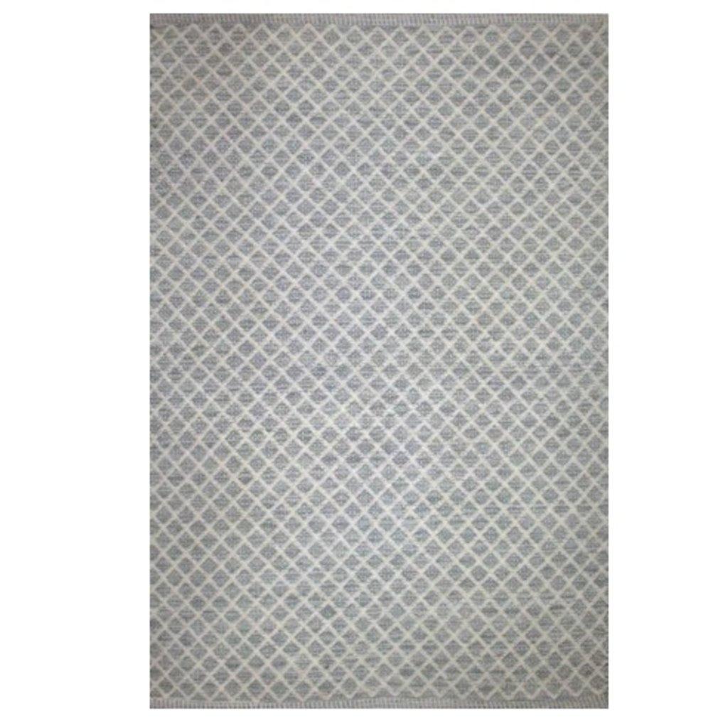 DHURRIE MAYWOOD, STONE GRAY, 5 X 8